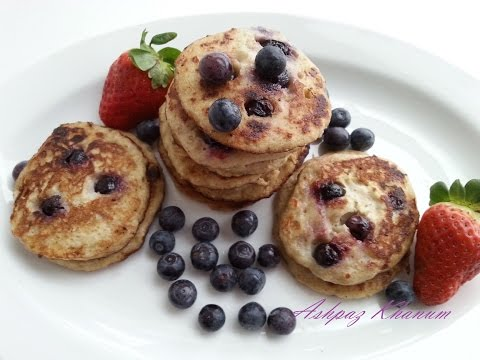 Banana And Blueberry Pancakes Recipe With Oatmeal