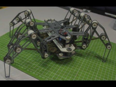 Шагающий робот -паук на 3D принтере   Spider Rover