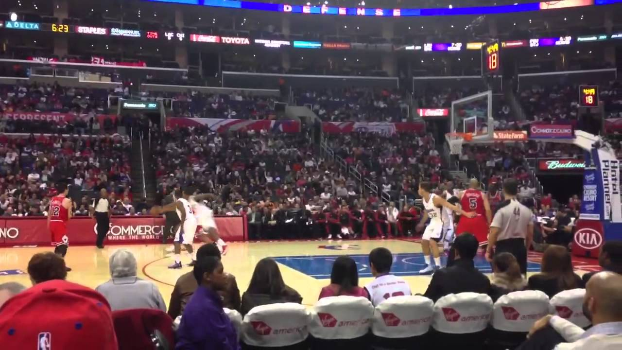 Clippers Vs Bulls Courtside Youtube