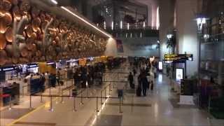 Airport in New Delhi, India. Indira Gandhi International Airport