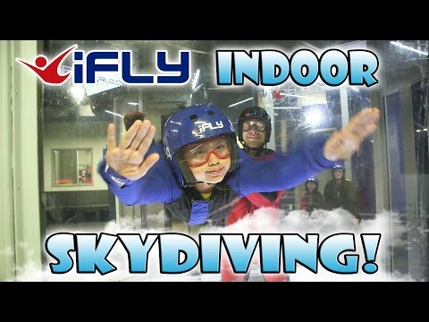 iFLY INDOOR SKYDIVING! EvanTubeHD Kids Go Flying!