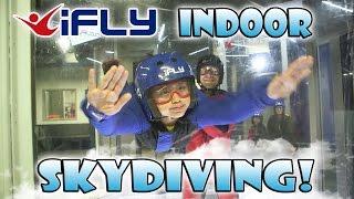 Repeat youtube video iFLY INDOOR SKYDIVING! EvanTubeHD Kids Go Flying!