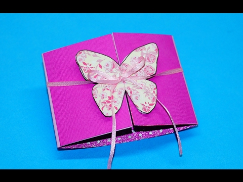Butterfly card - learn how to make this butterfly paper crafts. Greeting card making / Julia DIY