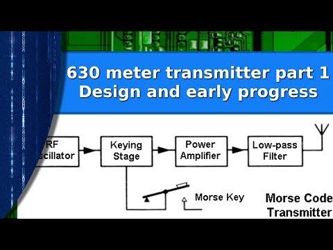 Ham Radio - A simple 630 meter CW transmitter part 1. The design.