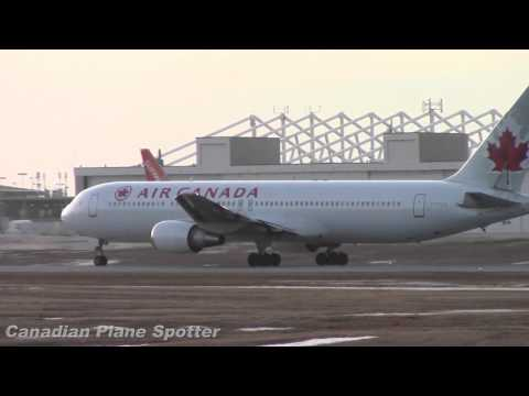 Air Canada 767-300ER Takeoff from Ottawa Int'l Airport