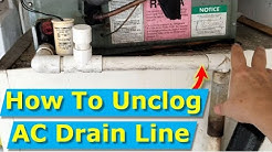 How to Unclog AC Drain Line Fast (3 Seconds), Avoid Repairman