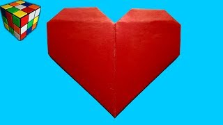 Как сделать СЕРДЦЕ из бумаги. Сердечко оригами своими руками. Поделки  оригами
