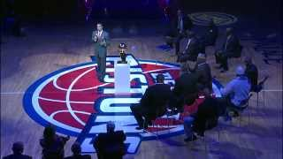 The 1989 Detroit Pistons Championship team comes together for a hal...