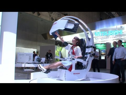 Sharp's futuristic Health Care Support Chair - a proactive health care solution #DigInfo