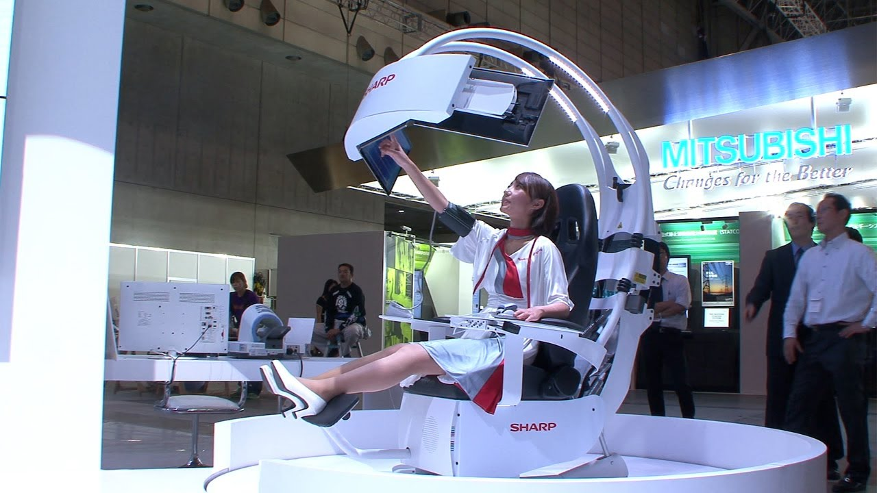 Emperor Gaming Chair >> Sharp's futuristic Health Care Support Chair - a proactive health care solution #DigInfo - YouTube