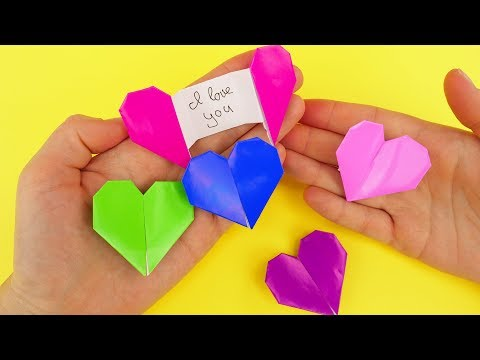 Origami Heart Message Gift Card DIY | Secret Letter Folding Origami Tutorial