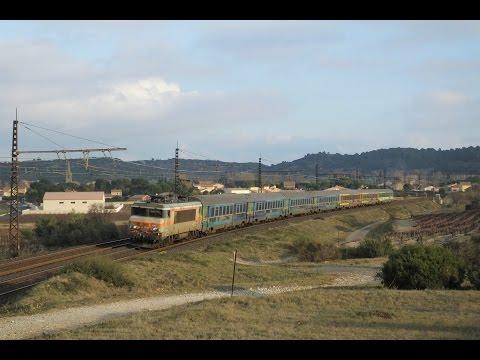Une apres-midi a Nevian (08/12/15) (TER, TGV, Fret, IC)