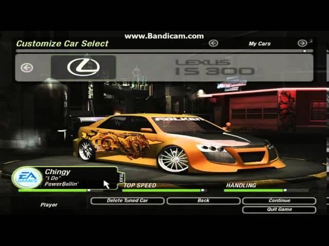 Nfsu2: Lexus Is300 Dyno + Test