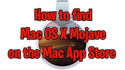How to Find Mojave on the Mac App Store - Mac OS X 10.14