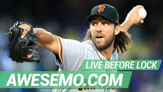 MLB DFS Live Before Lock - Sat 8/24 - DraftKings FanDuel Yahoo - Awesemo.com