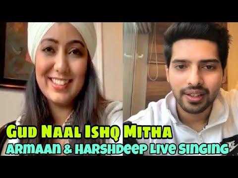 Armaan Malik & Harshdeep Kaur Live Singing - Gud Naal Ishq Mitha || SLV 2019