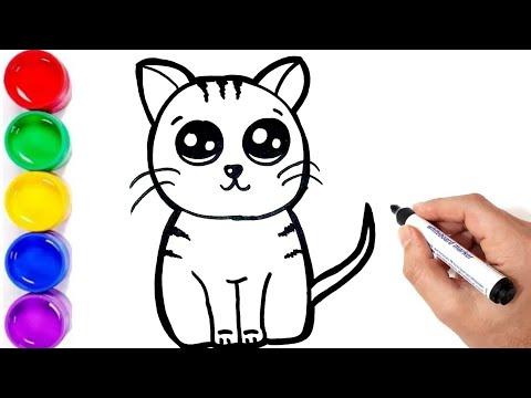 Sevimli Kedi Cizimi Kedi Nasil Cizilir Kolay Kedi Cizimi Ciz Ve