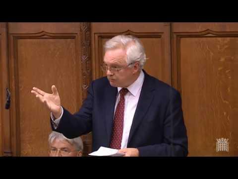 David Davis' first speech since resigning as Brexit Secretary