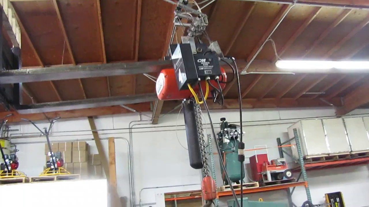 maxresdefault cm lodestar 2 ton electric chain hoist with 635 trolley 15' lift Cm Chain Hoist Wiring-Diagram at gsmportal.co