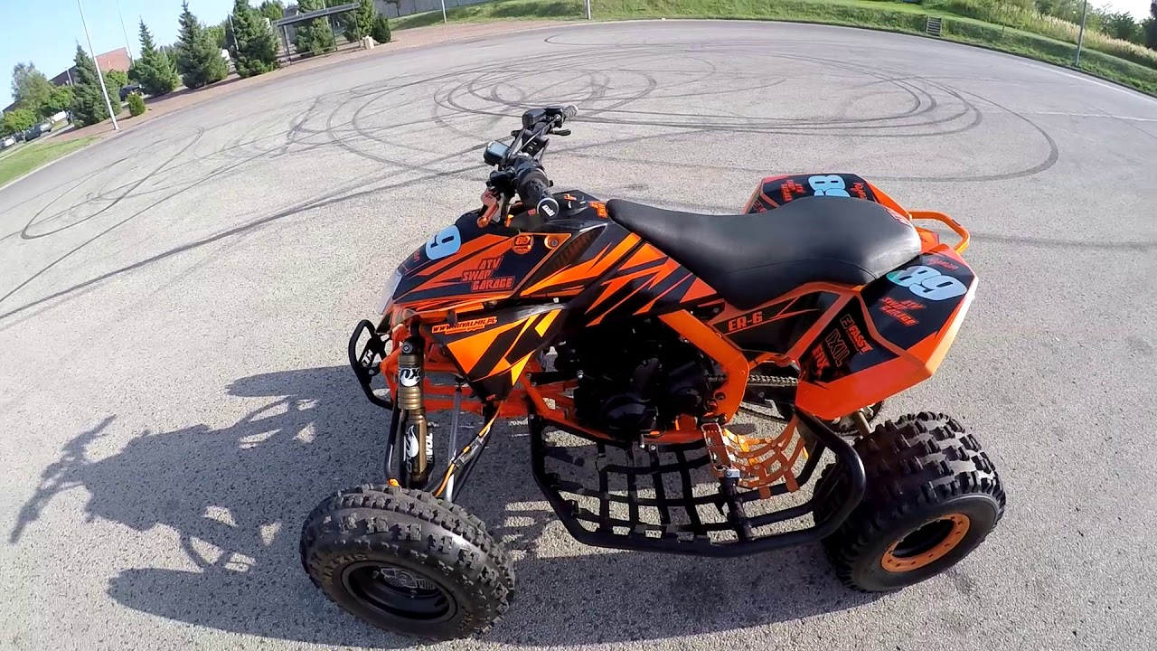 ktm 505 sx atv swap er 6 made by asg test ride youtube. Black Bedroom Furniture Sets. Home Design Ideas