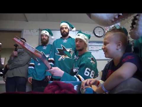 San Jose Sharks Holiday Hospital Visit 2016