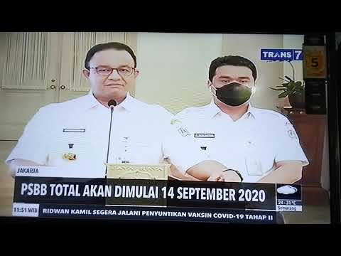 Jakarta Akan Psbb Total 14 September 2020 Youtube