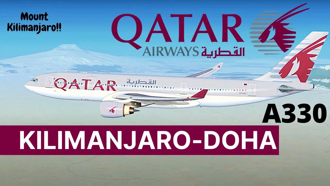 [FSX] Qatar flight 1354 | QTR1354/QR1354 | HTKJ (Kilimanjaro Intl) to OTHH (Doha - Hamad Intl)
