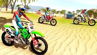 Bike Racing Games - Beach Water Surfer Bike Racing - Gameplay Android & iOS free games
