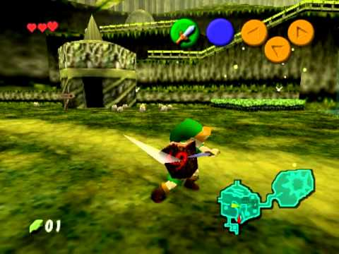 Legend of Zelda: Ocarina of Time - Nintendo 64 vs Project 64 (visual  difference)