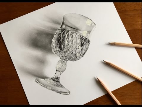 Realistic Graphite Drawing of an Antique Glass!