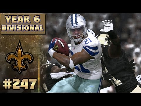 Divisional Playoffs!! Saints vs Cowboys (S6) | Madden NFL 17 New Orleans Saints Franchise Ep. 247