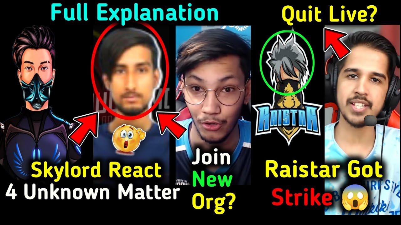 Raistar Got STRIKE 😱, 4Unknown SCAM - Skylord & Pahadi Live REACTS! 😳, Team Elite JOIN 🤔 Desi Gamers