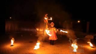 Огненно-пиротехническое шоу в русском стиле на масленицу