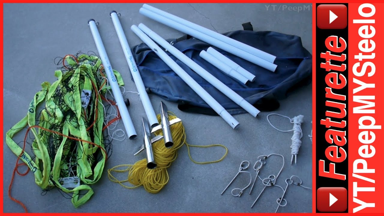 outdoor volleyball net equipment set by spalding w adjustable