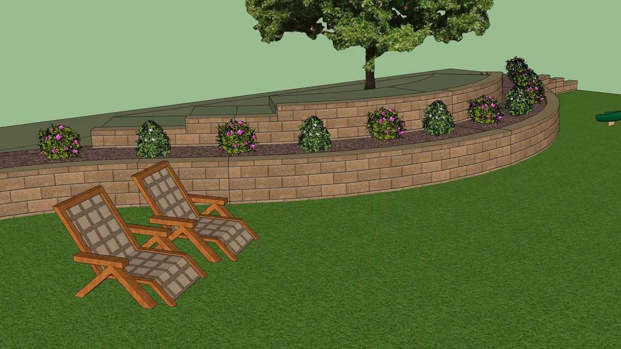 3D Design Tools for Retaining Walls, Courtyard Walls