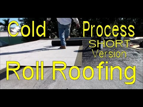 How To Cold Process Modified Bitumen Roll Roofing