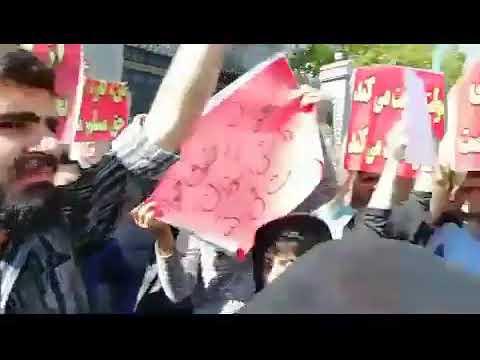 """Iran, manifestations 1er Mai à Téhéran: """" Le gouvernement trahit, le parlemengt le soutient"""""""
