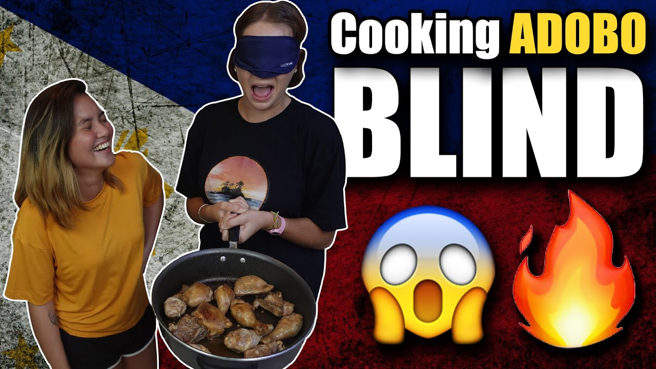 FOREIGNER Cooks ADOBO.. BLINDFOLDED (Filipino Cooking Challenge)
