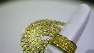 lemonade combo 10 lab made yellow diamond pave cluster chain 360 fully loaded ring gucci mane