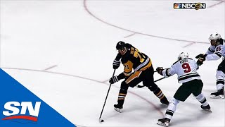 Evgeni Malkin Assists On Bryan Rust's Goal With Incredible No-Look Pass