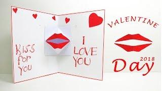 Download lagu Valentine s day DIY Origami kissing lips Valentine s Kiss Day Lina s Craft Club MP3