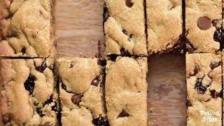 Peanut Butter Tart Cherry Blondies
