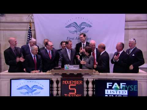 First American Financial Corporation Visits The NYSE
