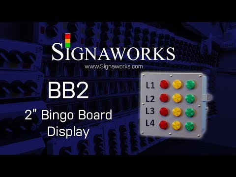 2 Inch Bingo Board Status Light Assembly - BB2 From Signaworks