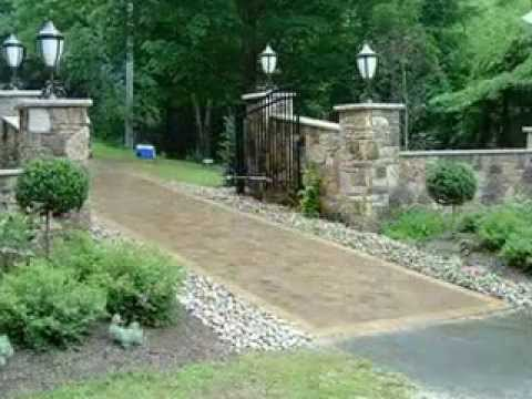 Driveway Landscaping Design Ideas YouTube