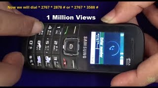 How To Unlock Samsung GT-E 1205T, E1200T,E1200Y,E1207T,E1207Y,E1100 All Basic Samsung Models