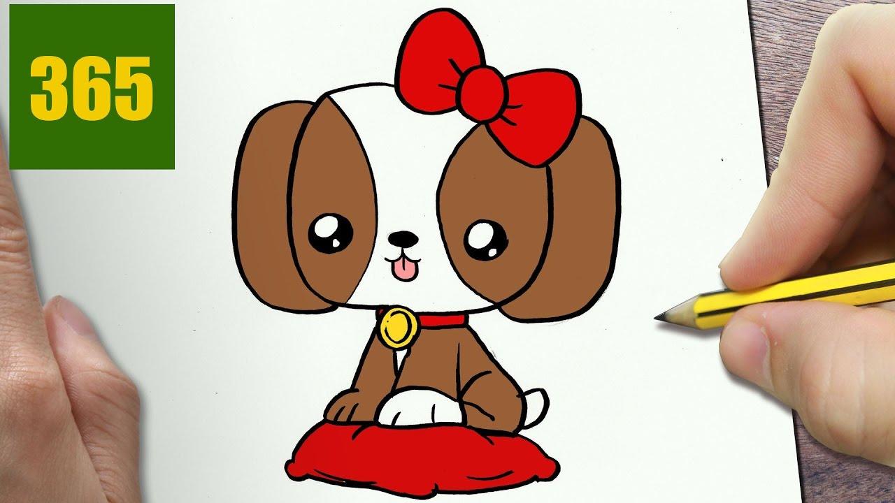 come disegnare cane kawaii passo dopo passo disegni
