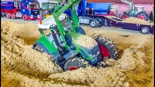 R/C Tractor stuck ans rescue! RC Tractors in Action!