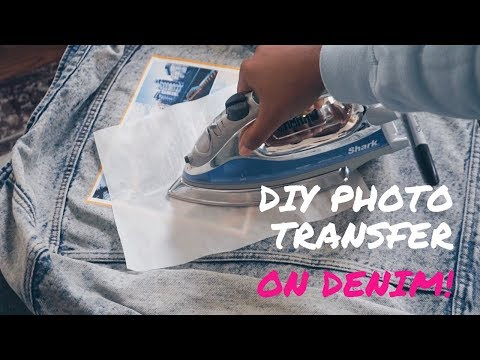 How to: EASY CUSTOM DIY PHOTO TRANSFER ON DENIM!