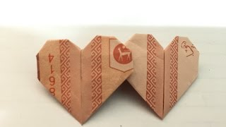 Origami--How To Fold Twin Love 双爱心手工折纸